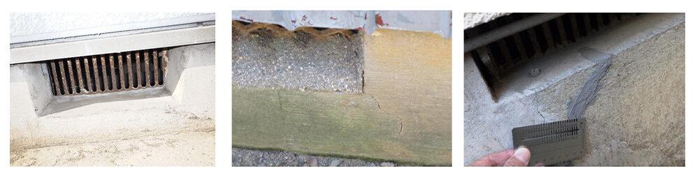 住宅の床下換気口|おすすめホームインスペクション|新築・中古・自宅の住宅診断